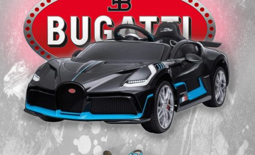 Kids Ride On Car Electric 12v Bugatti Divo -Black