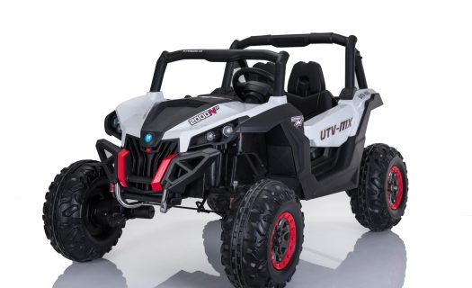 Kids Ride On 24v UTV-MX 4WD Off Road Buggy 4 Motors- White