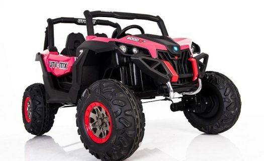 Kids Ride On 24v UTV-MX 4WD Off Road Buggy 4 Motors- Pink