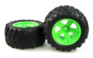 3338-p022 Wheel Complete (green) Pair