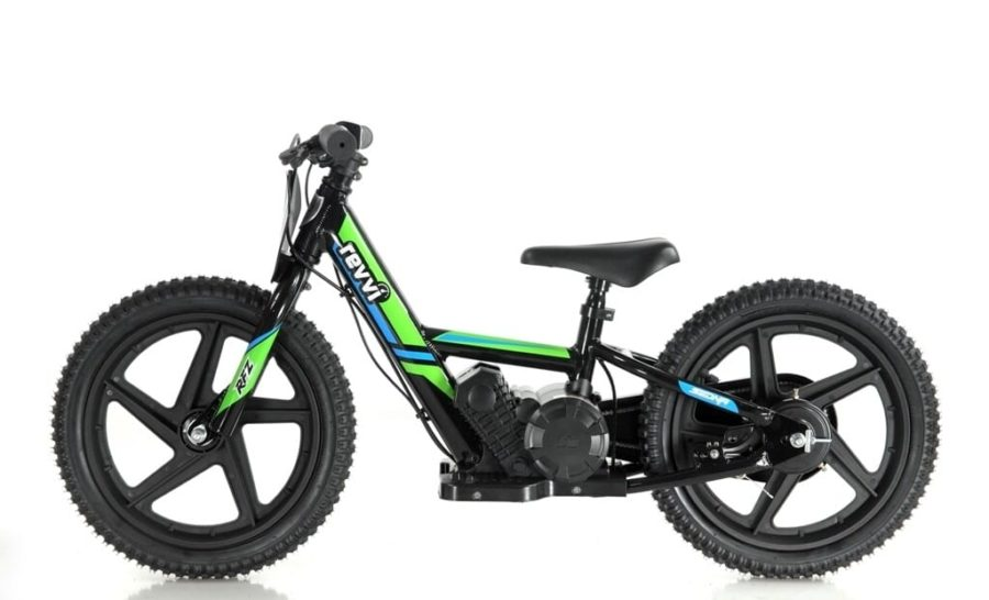 Revvi Lithium 16″ Kids Electric Dirt Bike – 24v Motorbike – Green