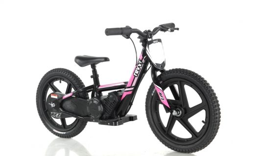 Revvi Lithium 16″ Kids Electric Dirt Bike – 24v Motorbike – Pink