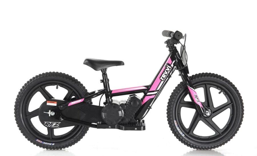 Revvi Lithium 16″ Kids Electric Dirt Bike – 24v Motorbike – Pink