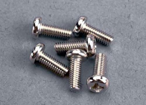 Traxxas Screws, 3x8mm Roundhead Machine (6) 2559