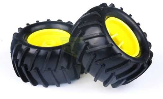 Yellow Rim andamp;Amp; Tire Complete (83006Y+83004) 2P (83005)
