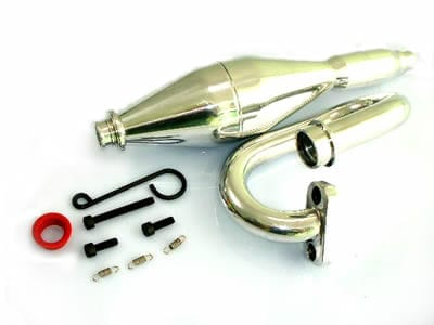 Himoto Aluminium Polished Exhaust Pipe (050039)
