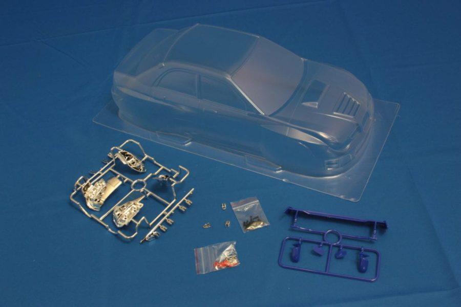 Himoto 1:10 On-road Clear Body Shell (subaru Wrx 9) (pc201010r-3b)