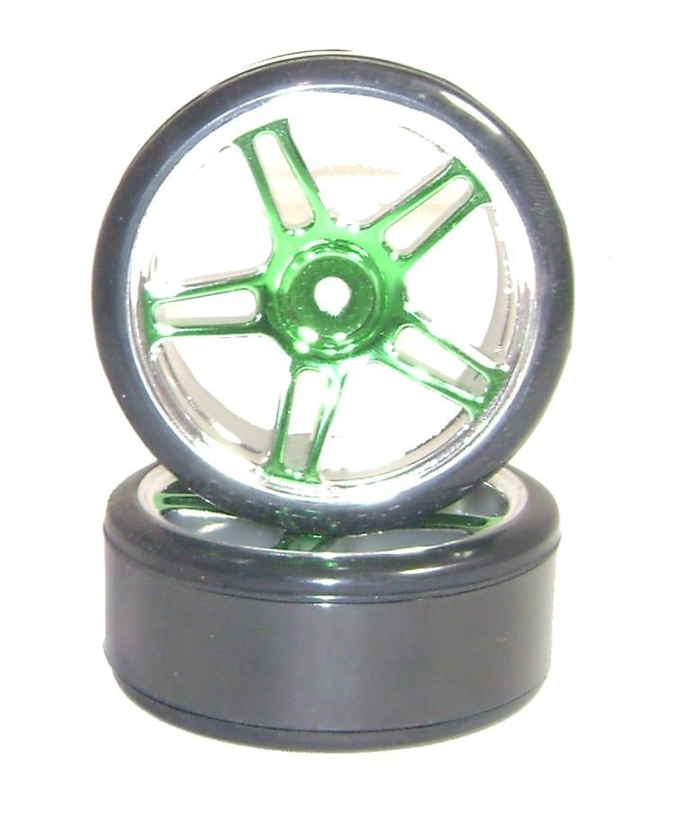 Drift Car Spare Wheels Green (07003)