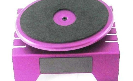 Aluminum Workstand Turntable With Built In Magnetic Strip Purple
