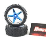 Front Chrome Blue Wheels For 1 10 Rc Buggies (06010)