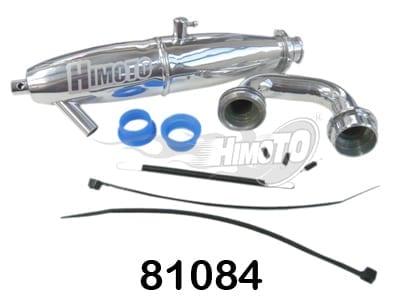 Polished Aluminium Exhaust Pipe (81084)