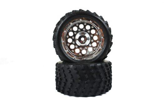 Replacement/Spare Chrome Tire &Amp; Rim Complete 2P (86017V)