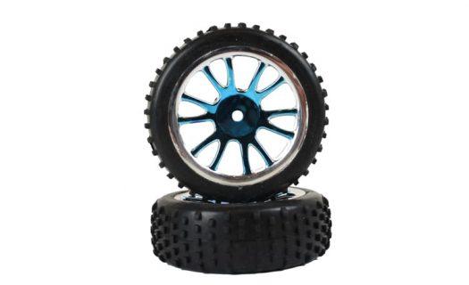 Front Blue Chrome Tire &Amp; Rim Complete 2P (85007)
