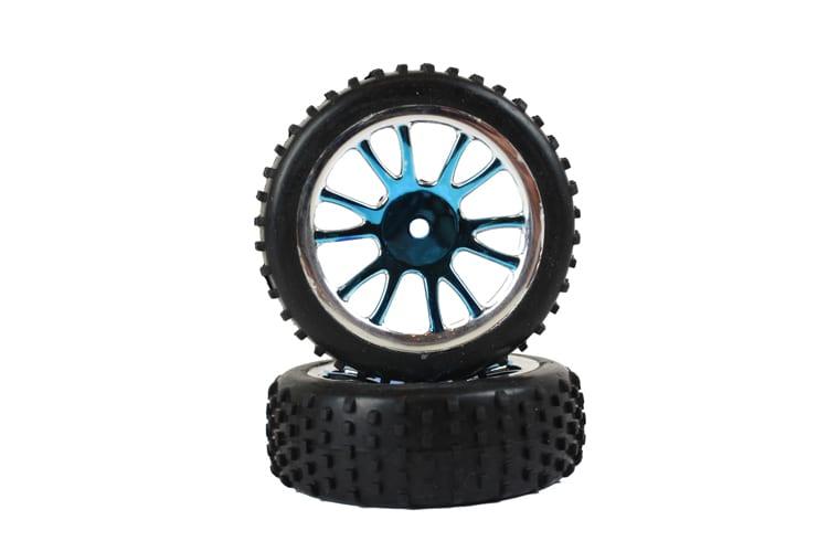 Front Blue Chrome Tire Andamp;amp; Rim Complete 2p (85007)