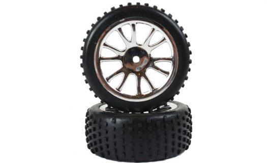 Rear Chrome Tire &Amp; Rim Complete 2P (85024)