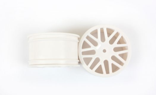 White Mesh Rear Rims 2P  (06102)