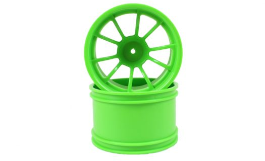 Green 10 Spoke Rims 2P  (08008)