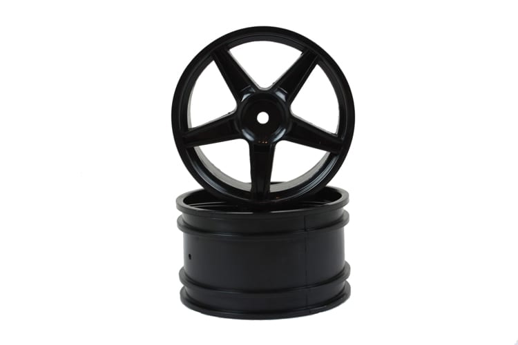 Black Super Star Rear Rims 2p  (06024bl)