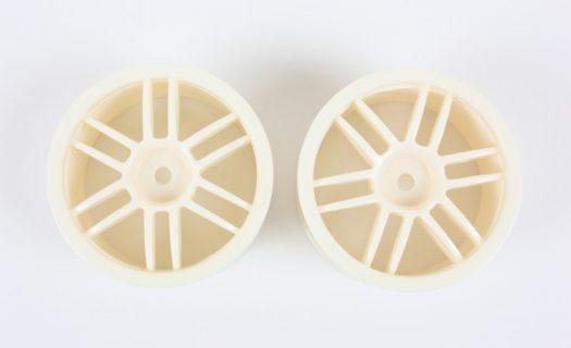 White 12 Spoke Rims 2P  (02018)
