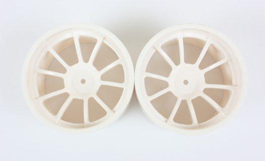 White 10 Spoke Rims 2P  (08008)