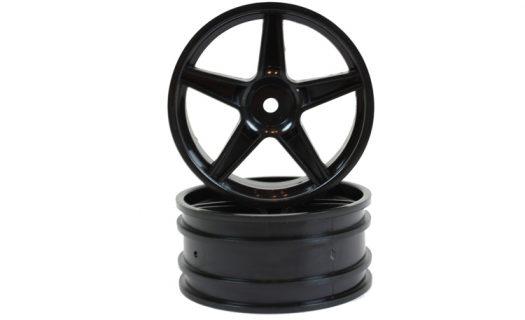 Black Super Star Front Rims 2P (06008)