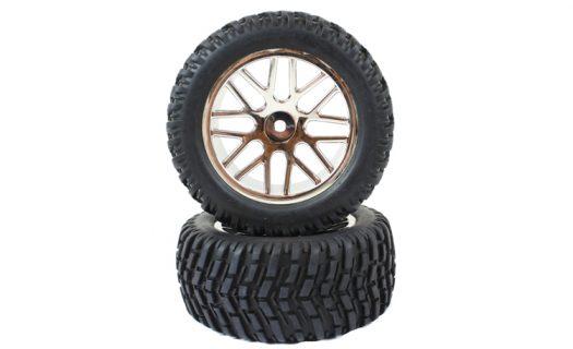 Upgrade Chrome Tire &Amp; Rim Complete 2P (15502)