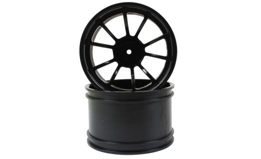 Black 10 Spoke Rims 2P  (08008)
