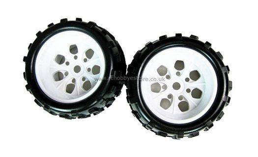 Wheels andamp;Amp; Tyres For 1:8 Monster Truck (White)(62012)