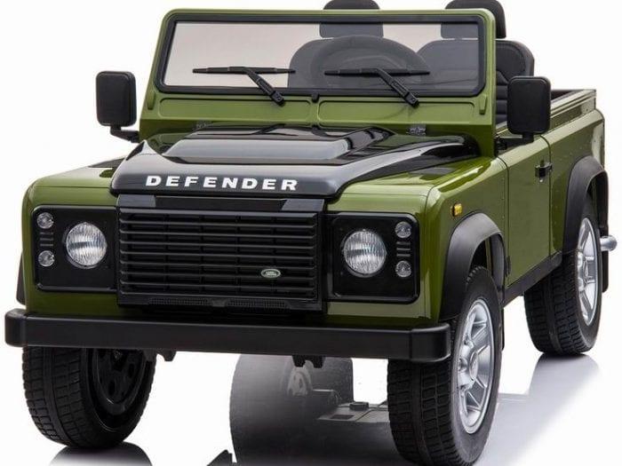 Licensed 24v Land Rover Defender 90 4WD Ride Jeep – Green