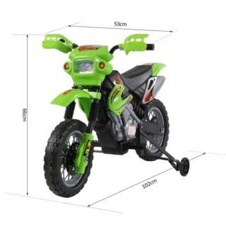 6V Kids' Electric Ride On Bike 2019 Scrambler Dirtbike – Green