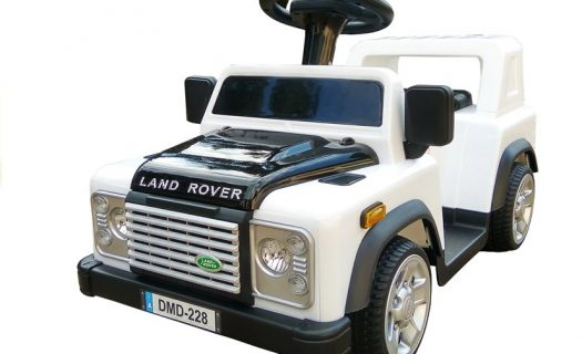 6v Foot 2 Floor Land Rover Defender – White