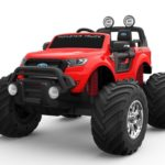 Ford Ranger Ride On Kids 24v Monster Truck 4wd Eva Wheels – Bright Red