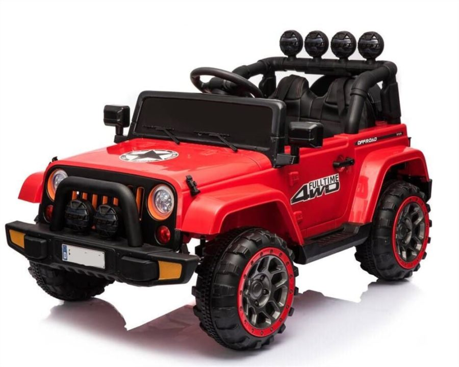 Jeep Style 12v Kids Ride On Car 4 Wheel Drive Motors, 2.4g Rc – Red