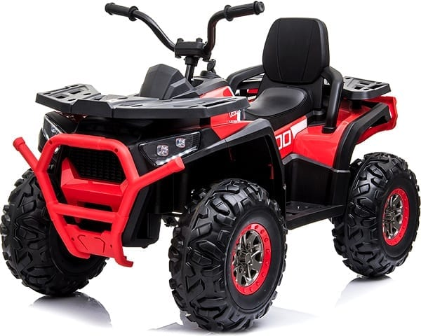 Kids Ride On Quad Bike 24v 4wd Bluetooth And Radio – Red