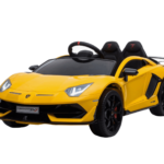 Licensed Lamborghini Aventador Sv 12v Battery Electric Ride On Car Yellow