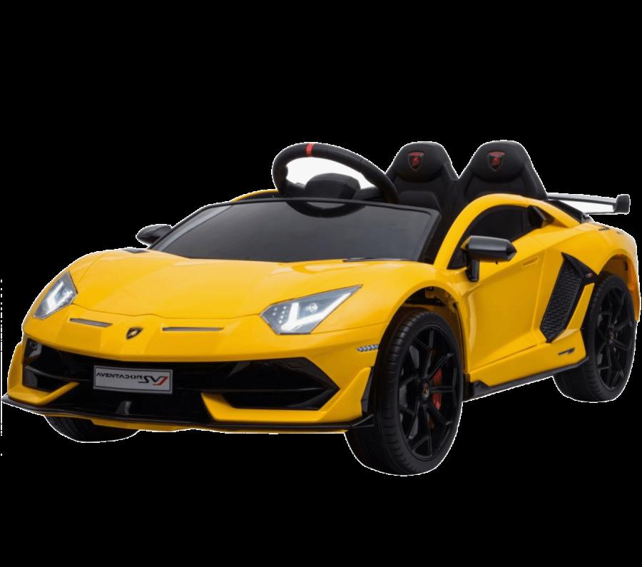 Licensed Lamborghini Aventador Sv 12v Battery Electric Ride On Car Yellow