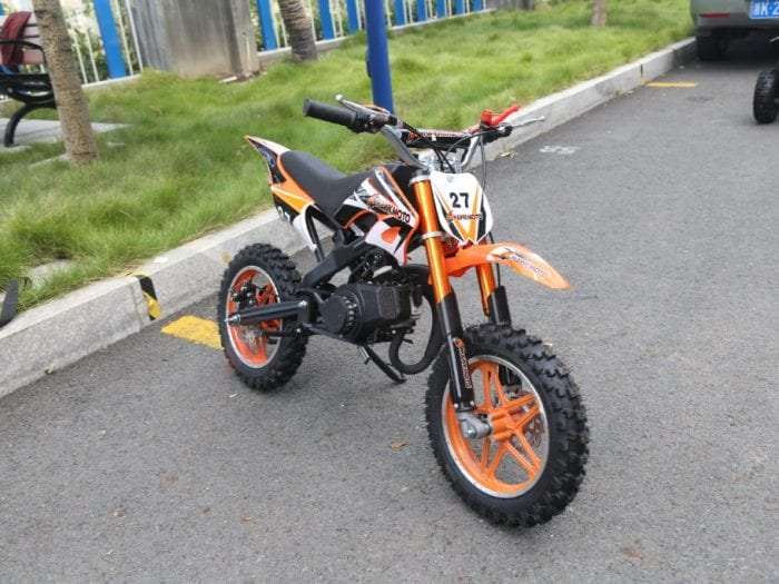Hawkmoto Blaster 50Cc Kids Mini Moto Scrambler Dirt Bike – Orange