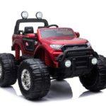 Ford Ranger Ride On Kids 24v Monster Truck 4wd Eva Wheels – Metallic Red
