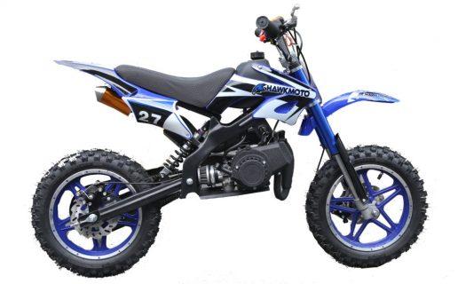 Hawkmoto Blaster 50Cc Kids Mini Moto Scrambler Dirt Bike – Blue