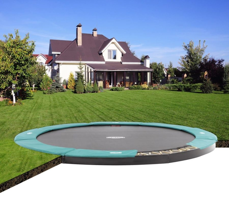 Berg Flatground Champion Trampoline Green 430 (14 Ft)