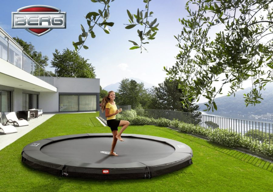 Berg Inground Favorit Trampoline 430 14ft – Grey
