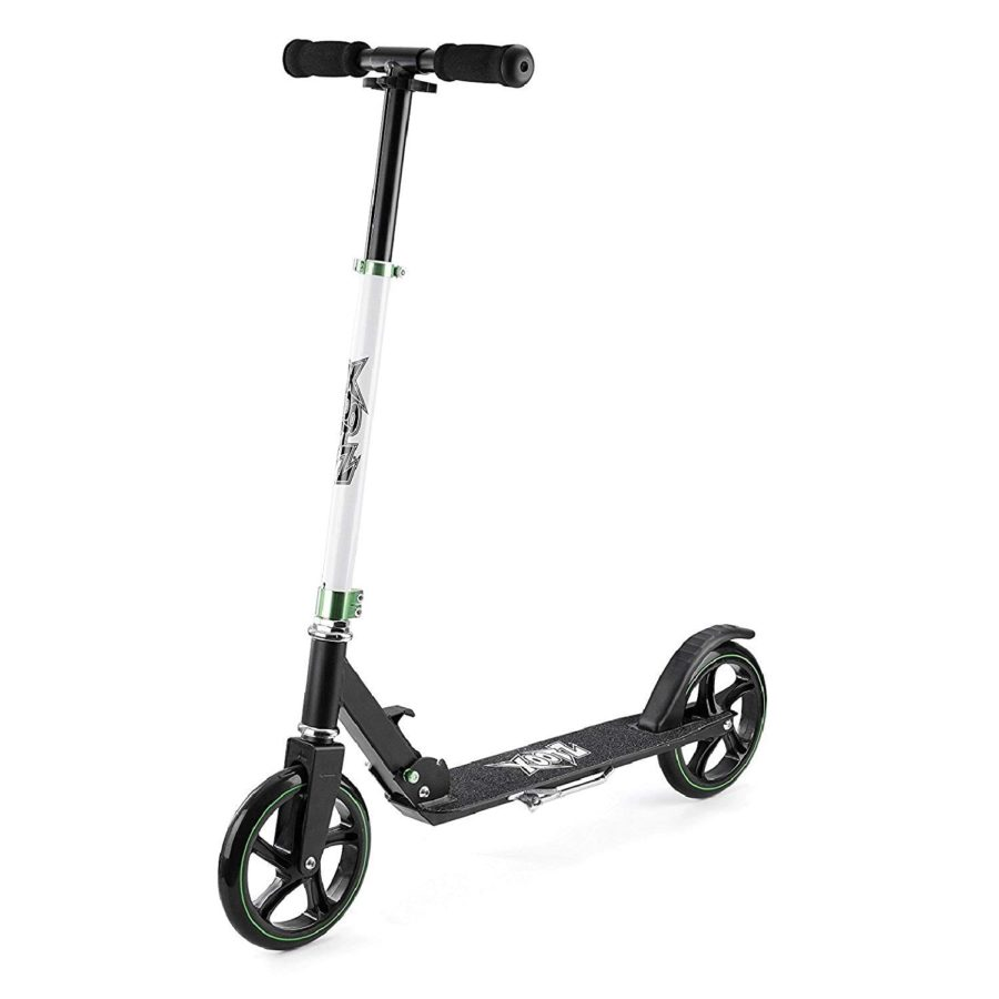 Xootz Big Wheel Scooter For Kids, Foldable With Adjustable Handlebars – Black