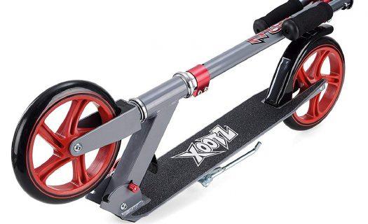 Xootz Big Wheel Scooter for Kids, Foldable with Adjustable Handlebars – Gunmetal