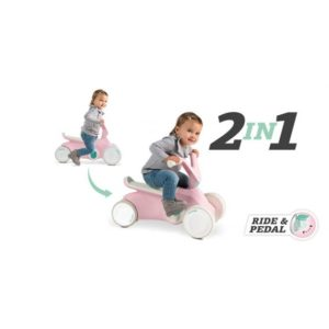 Berg Go2 Pink 2 In 1 Push And Pedal Toddlers Go Kart