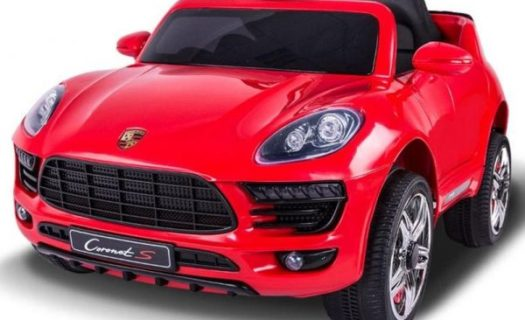 Kids Porsche Macan Style Ride On 12v SUV Jeep – Red