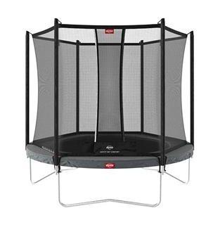 BERG Favorit 270 12ft 5 Trampoline with Comfort Saffety Net – Grey