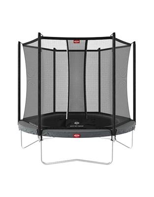 Berg Favorit 270 9ft Trampoline With Comfort Safety Net – Grey