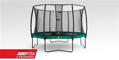 Berg Champion 430 14ft Tatoo Trampoline With Safety Net Delux – Green