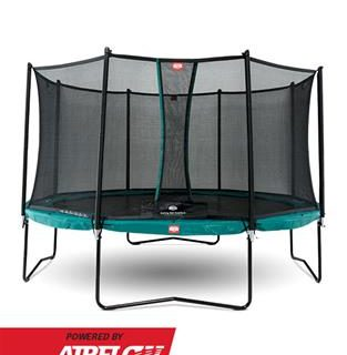 BERG Champion Trampoline 330 11ft With Safety Net Comfort – Green