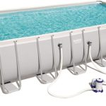 Steel Pro Rectangular Frame Pool With Pump – 24ft X 12ft X 52in By Bestway